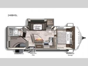 Kodiak Ultra-Lite 248BHSL Floorplan Image