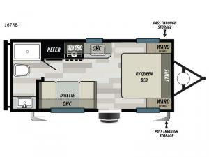 Sonoma 167RB Floorplan Image