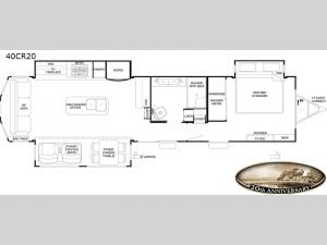 Cedar Creek Cottage Limited Edition 40CR20 Floorplan Image