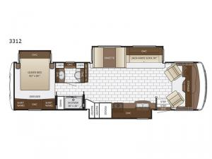 Bay Star Sport 3312 Floorplan Image