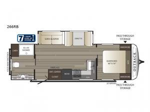 Outback 266RB Floorplan Image
