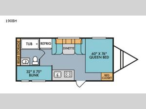 Retro Silver Series 190BH Floorplan Image