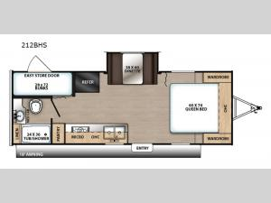 Catalina Summit Series 212BHS Floorplan Image