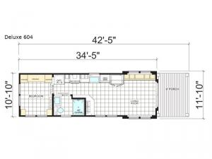 Athens Park Series Deluxe 604 Floorplan Image