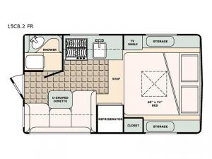 Bigfoot 1500 Series 15C8.2 FR Floorplan Image
