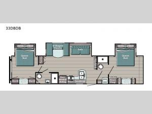 Trailmaster Special Edition Series 33DBDB Floorplan Image