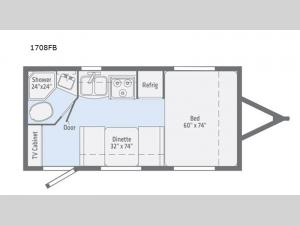 Micro Minnie 1708FB Floorplan Image