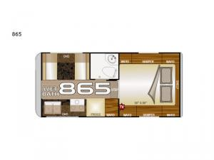Arctic Fox Camper 865 Wet Bath Floorplan Image