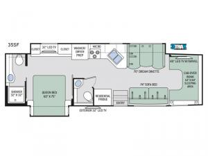 Four Winds Super C 35SF Floorplan Image