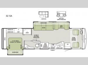 Open Road Allegro 32 SA Floorplan Image