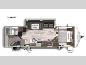 Kodiak Ultra-Lite 289BHSL Floorplan Image