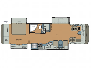 Berkshire 34QS 360HP Floorplan Image