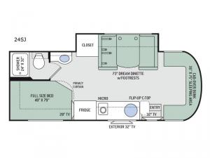 Citation Sprinter 24SJ Floorplan Image