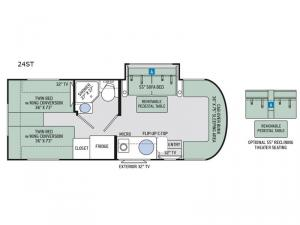 Citation Sprinter 24ST Floorplan Image