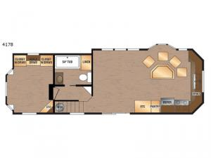 Island Series 4178 Floorplan Image