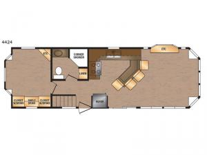 Island Series 4424 Floorplan Image