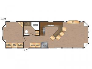 Island Series 4427 Floorplan Image