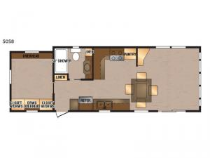 Island Series 5058 Floorplan Image