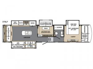 Blue Ridge Cabin Edition 378 LF Floorplan Image