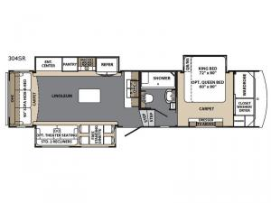 Blue Ridge Cabin Edition 304 SR Floorplan Image