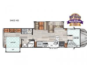 FORCE HD 34KD HD Floorplan Image