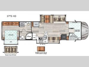 FORCE HD 37TS HD Floorplan Image