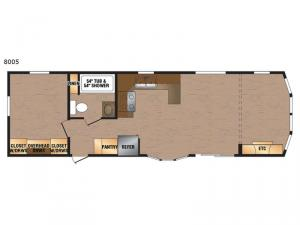 Lakeside Series 8005 Floorplan Image