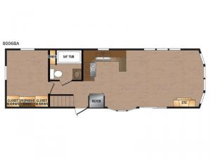 Lakeside Series 8006BA Floorplan Image