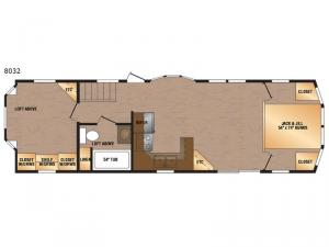 Lakeside Series 8032 Floorplan Image