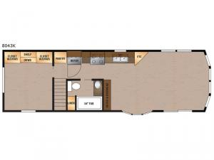 Lakeside Series 8043K Floorplan Image