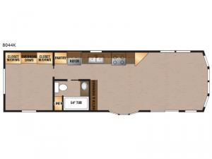 Lakeside Series 8044K Floorplan Image
