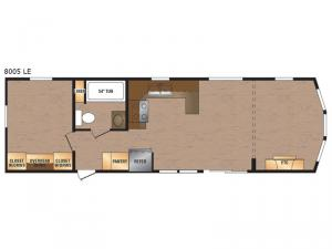 Lakeside LE Series 8005 LE Floorplan Image