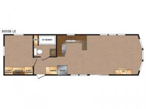 Lakeside LE Series 8005B LE Floorplan Image