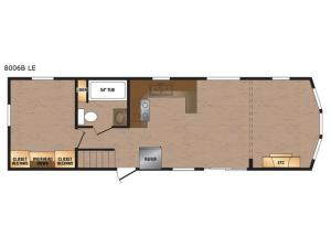 Lakeside LE Series 8006B LE Floorplan Image