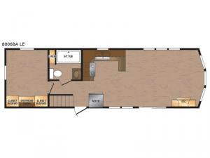 Lakeside LE Series 8006BA LE Floorplan Image