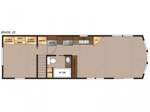 Lakeside LE Series 8043K LE Floorplan Image