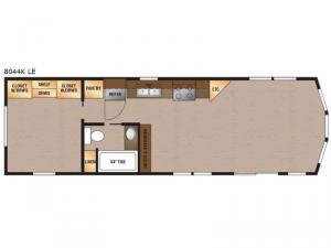 Lakeside LE Series 8044K LE Floorplan Image
