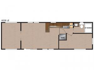 Lakeside LE Series 6038 LE Floorplan Image