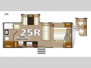Arctic Fox North Fork 25R Floorplan Image