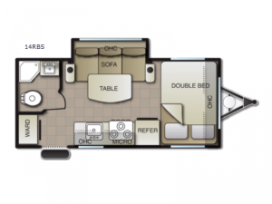 Surf Side 14RBS Floorplan Image
