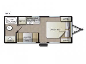 Surf Side 16RB Floorplan Image
