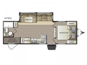 Surf Side 26TBSS Floorplan Image