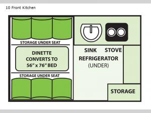 Ranger 10 Front Kitchen Floorplan Image