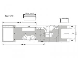 Iconic Wide Lite 3221CKG Floorplan Image