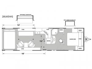 Iconic Wide Lite 2816SWG Floorplan Image