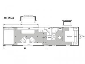 Iconic Wide Lite 3220SWG Floorplan Image