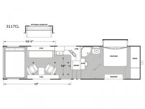 Iconic Wide Body 3117CL Floorplan Image