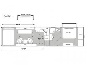 Iconic Wide Body 3419CL Floorplan Image
