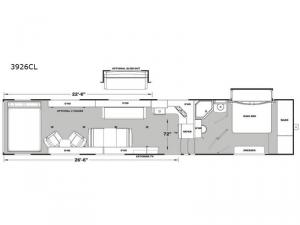 Iconic Wide Body 3926CL Floorplan Image