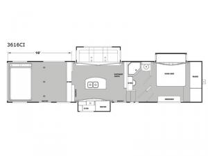 Iconic Garage 3616CI Floorplan Image